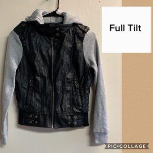 FULL Tilt jacket black and gray zipper up size S